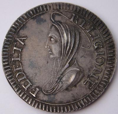 KIRCHENSTAAT VATIKAN 1. Römische Republik, 1798-1799. Ag. Madonnina 1799, Ronciglione.JPG