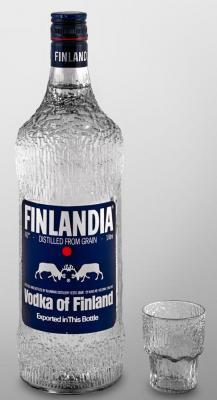 Один из самых известных дизайн-проектов Тапио Вирккалы – бутылка водки Finlandia (1970-2000).jpg
