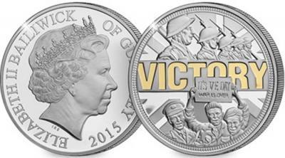 Гернси £ 5, 2015 год, 70-летие Победы (позолота).jpg