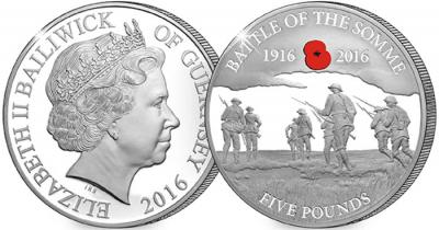 Гернси 5 фунтов, 2016 год, Битва на Сомме.jpg