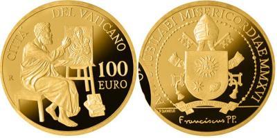Ватикан 100 евро, 2016 Евангелисты - Святой Лука.jpg