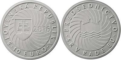 10 евро Первое Президентство Словацкой Республики в Совете Европейского Союза.jpg