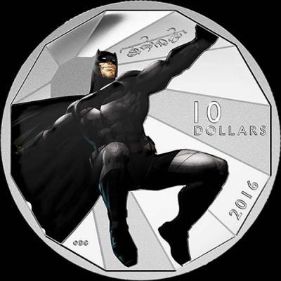 Канада,  2016 10 долларов, Бэтмен против Супермена. На заре справедливости (реверс).jpg