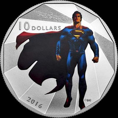 Канада,  2016 10 долларов, Бэтмен против Супермена На заре справедливости (реверс).jpg