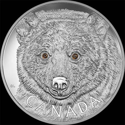Канада, 250 долларов 2016, Медведь-призрак (реверс).jpg