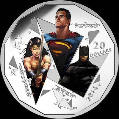 Канада,  2016 20 долларов Бэтмен против Супермена На заре справедливости (реверс).jpg