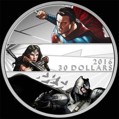 Канада,  2016 30 долларов Бэтмен против Супермена На заре справедливости (реверс).jpg