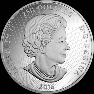 Канада, 250 долларов 2016, Медведь-призрак (аверс).jpg