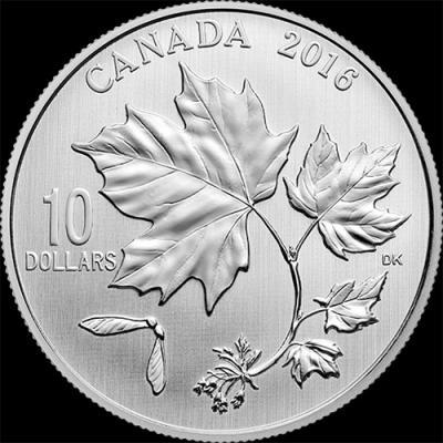 Канада 10 долларов 2016, кленовые листья (реверс).jpg