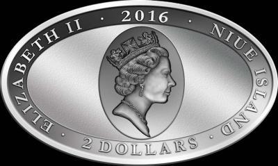 Ниуэ, 2 доллара 2016, зеленый питон (аверс).jpg