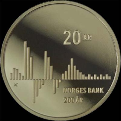 Норвегия, 20 крон 2016 года «200-летие Норвежского банка» (реверс).jpg