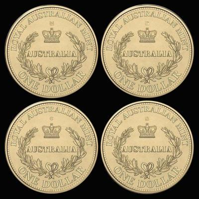 Австралия, набор 4х1 доллар 2016 года, «Минтмарки Австралийских монетных дворов».jpg