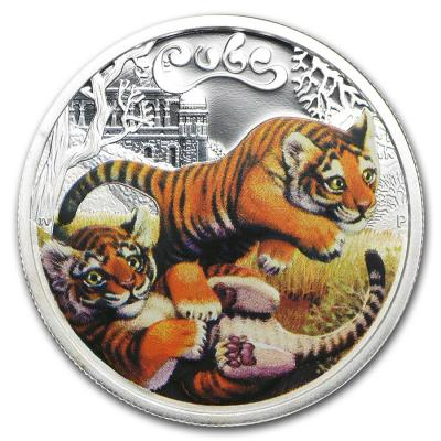 Тувалу, 50 центов 2016 года. Тигрята (реверс).jpg