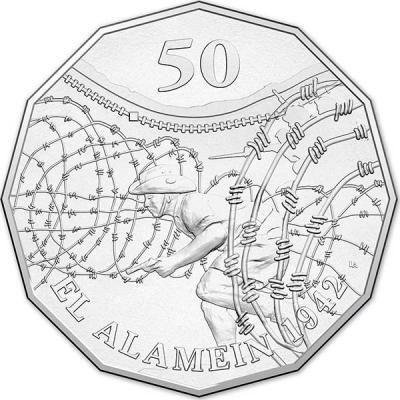 Австралия, 50 центов 2015 года, «Эль-Аламейн», серия Австралия в войне(реверс).jpg