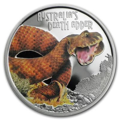 Тувалу, 1 доллар 2016 года. Смертельные змеи (реверс).jpg