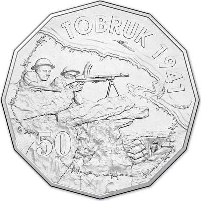 Австралия, 50 центов 2015 года, «Торбук», серия Австралия в войне(реверс).jpg