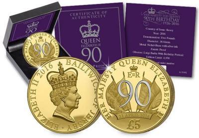 Остров Джерси. 2016, серебрение. 90 лет королеве.jpg