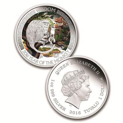 Тувалу, 1 доллар 2016 года. Лунный календарь. год Обезьяны (реверс).jpg
