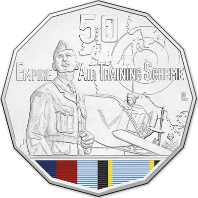 Австралия, 50 центов 2015 года, «Учебный летный центр», серия Австралия в войне.jpg