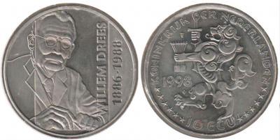 5 июля 1886 года родился - Виллем Дрес (Нидерланды, 10 экю 1998 года).jpg