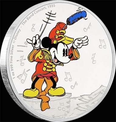 Остров Ниуэ 2 доллара 2016 года набор «Микки Маус концерт».jpg