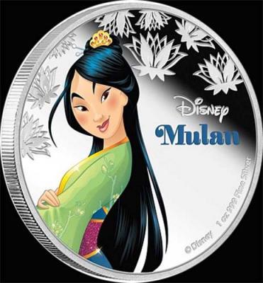 Остров Ниуэ 2 доллара 2016 года «Мулан».jpg