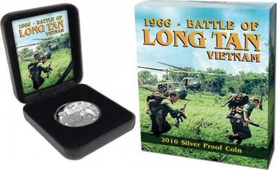 Остров Ниуэ 1 доллар 2016 года «Сражение при Лонгтане» упаковка.jpg