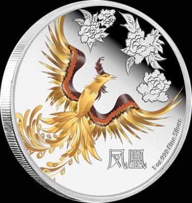 остров Ниуэ 2 доллара 2015 года «Феникс».jpg