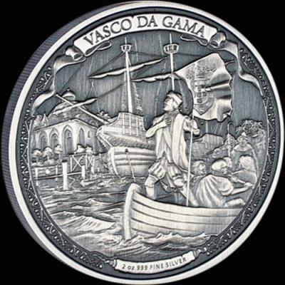 Остров Ниуэ 5 долларов 2016 года «Васко да Гама».jpg