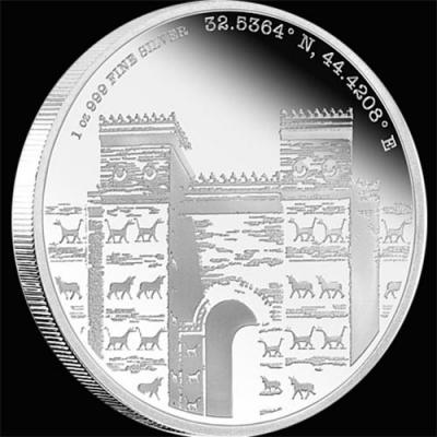 остров Ниуэ 2 доллара 2016 года «Вавилон».jpg