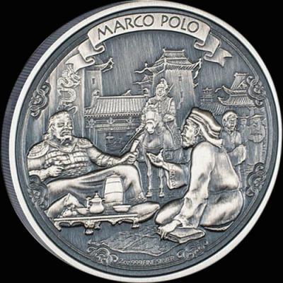 Остров Ниуэ 5 долларов 2015 года «Марко Поло».jpg