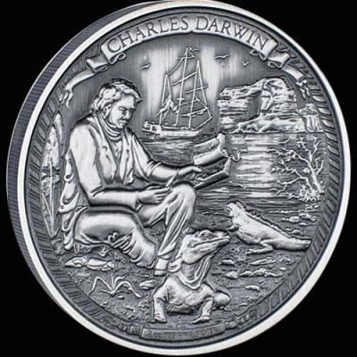 Остров Ниуэ 5 долларов 2016 года «Чарльз Дарвин».jpg