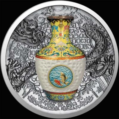 остров Ниуэ 1 доллар 2016 года. Ваза Императора Цяньлун (реверс).jpg