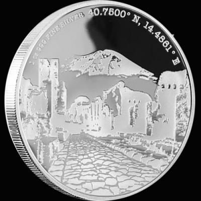 остров Ниуэ 2 доллара 2015 года «Помпеи».jpg