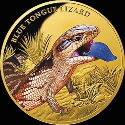 остров Ниуэ 100 долларов 2016 года «Исполинская ящерица».jpg
