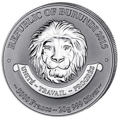 История авиации Серебряная монета 5000 франков Бурунди  2015 года (аверс).jpg