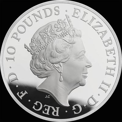 Великобритания 10 фунтов стерлингов 2016 года «Британия со львом» (аверс).jpg