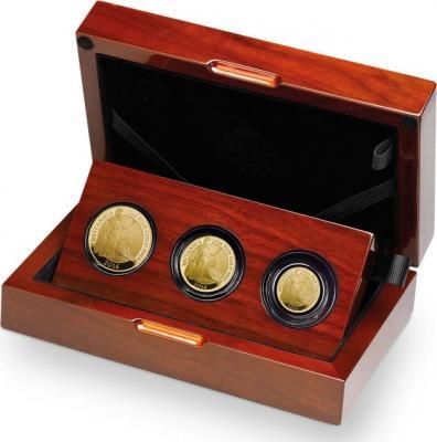 Великобритания набор золотых монет 2016 года «Британия со львом».jpg