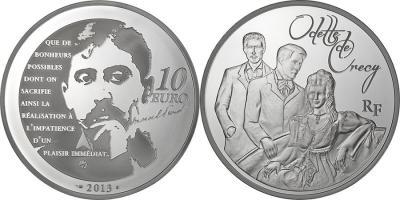 10 июля 1871 года родился - Марсель Пруст (France-2013-10-euro-Odette).jpg