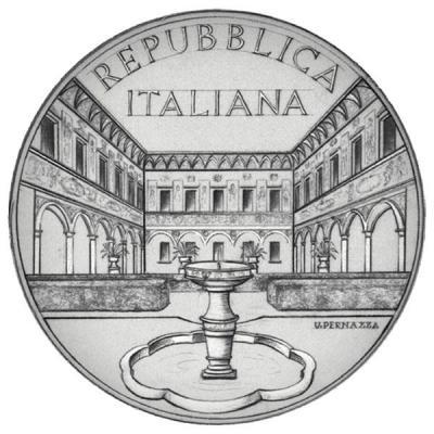 Италия 5 евро 2016 года«Вилла Чиконья Моццони» (аверс).jpg