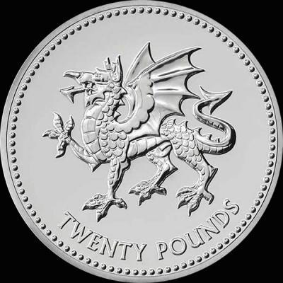 Великобритания 20 фунтов стерлингов 2016 года Валлийский дракон.jpg