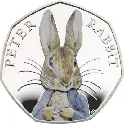 Великобритания 50 пенсов 2016 года, серебро «Кролик» (реверс).jpg