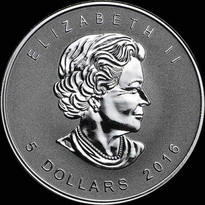 Канада,  2016  5 долларов Сапсан (аверс).jpg