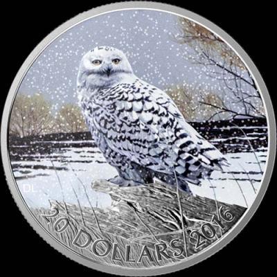 Канада,  2016  20 долларов Полярная сова  (реверс).jpg