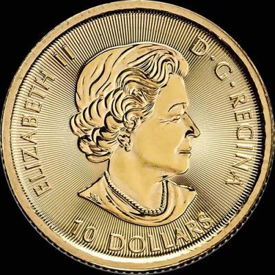 Канада, 10 долларов, 2016 год,золото (аверс).jpg