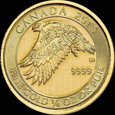 Канада, 10 долларов, 2016 год, Канадский белый сокол (золото).jpg