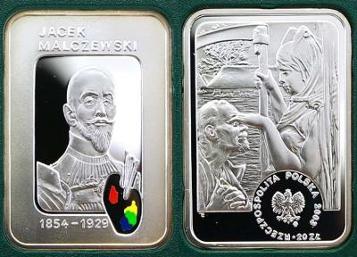15 июля 1854 года родился - Яцек Мальчевский(Польша 20 злоты 2003).jpg