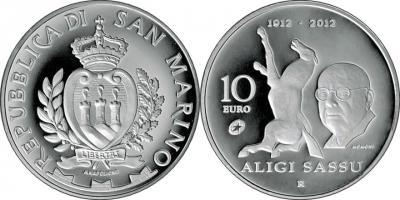 17 июля 1912 года родился — Алиджи Сассу(smr-10-euro-2012).jpg