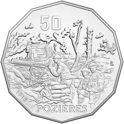 Австралия, 50 центов 2016 года Битва при Позьере (реверс).jpg