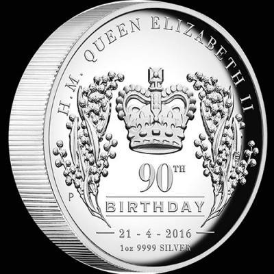 Австралия, 1 доллар 2016 года, серебро 90 лет королеве (реверс).jpg